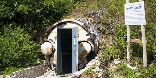 Entrance to Kennedy bunker on Peanut Island