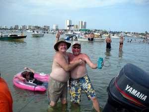 Partying on Peanut Island, Palm Beach, Florida