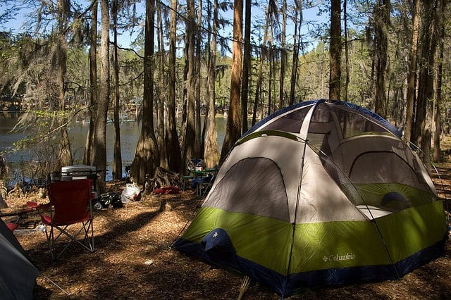 Tent c&ing at Suwannee River State Park & tent-camping-suwannee | Florida Rambler