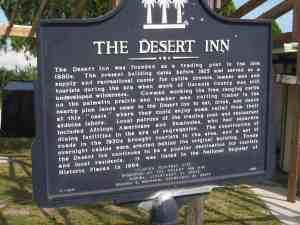 Desert Inn historic marker