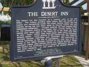 The Desert Inn historic marker