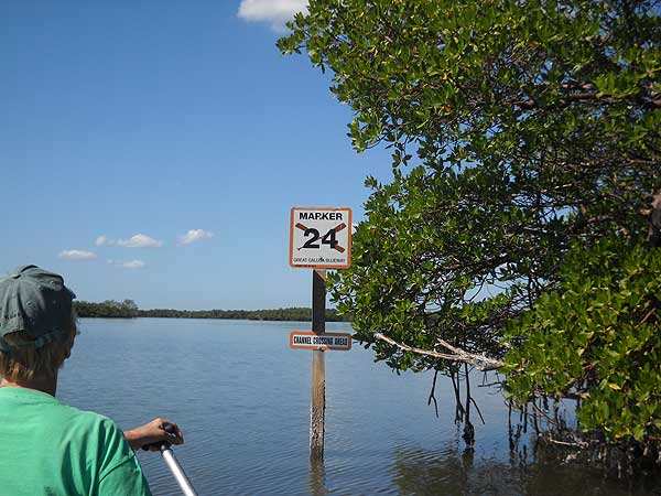 Calusa Blueway marker