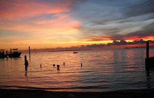 Key Largo sunset with kayak
