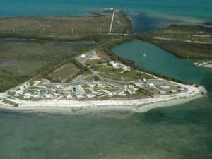 Aerial view of Curry Hammock campground