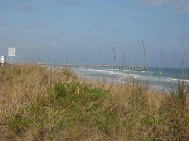 Flagler Beach with pier in background