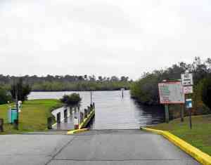 Boat ramp at Dale Wimbrow Park in Sebastian, FL