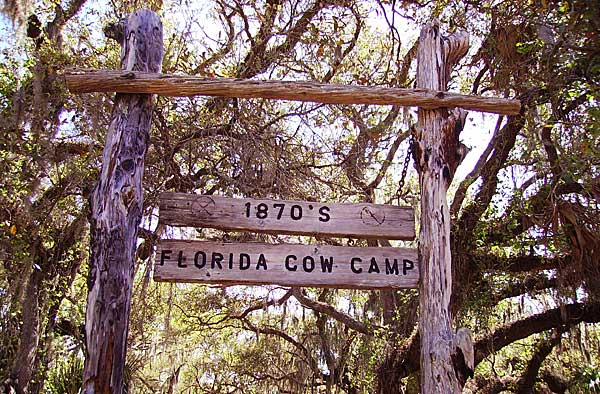 Lake Kissimmee State Park Cow Camp entrance