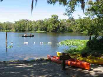 Kayakers on the St. Johns River at Blue Spring State Park