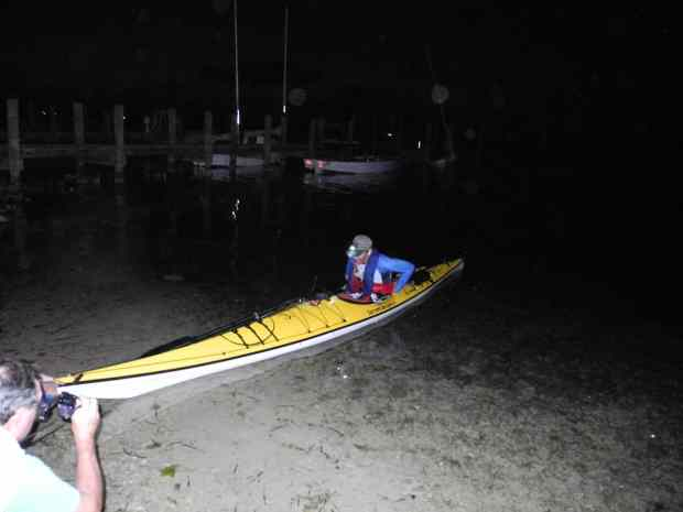 Sharkchow finishes the race after dark