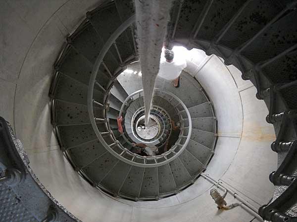 Hillsboro Lighthouse spiral staircase