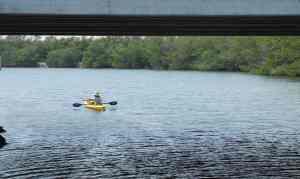 Kayak fishing on Blind Creek