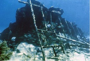 Mandalay shipwreck at Biscayne National Park