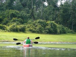 Rent a kayak or bring your own to Fort Wilderness