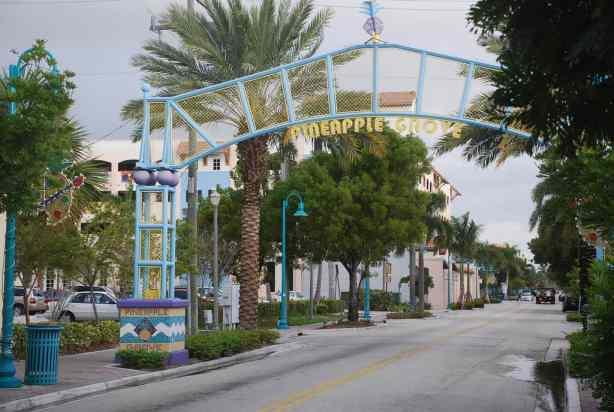 Pineapple Grove entrance in Delray Beach by Adam Fagan