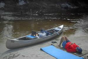 Peacefulness on Peace River canoe trip