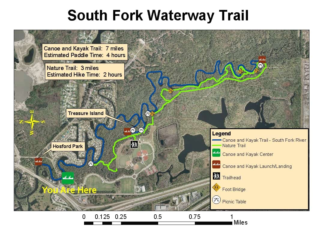 St Lucie River South Branch South Fork Trail Map Florida Rambler