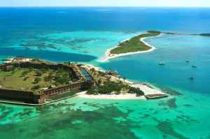 Fort Jefferson aerial by Ron Yeany