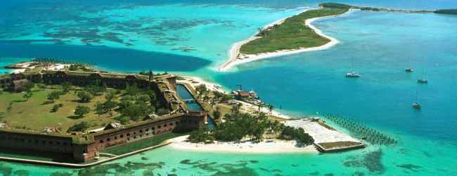 Fort Jefferson and Bush Island (Photo by Ron Yeany)