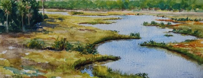 Spruce Creek watercolor by Stewart Jones