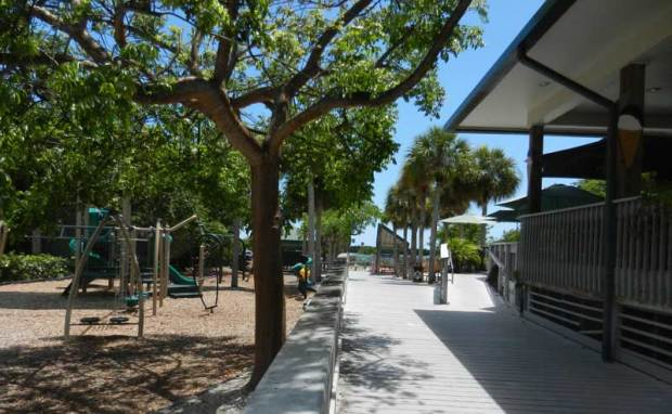 Snack shop and playground at Tigertail Beach on Marco Island