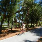 There is some shade on the Pinellas Trail, but not very much because of the trail's width.