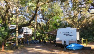 One of the original campgrounds, Old Prairie, at Myakka River State Park.
