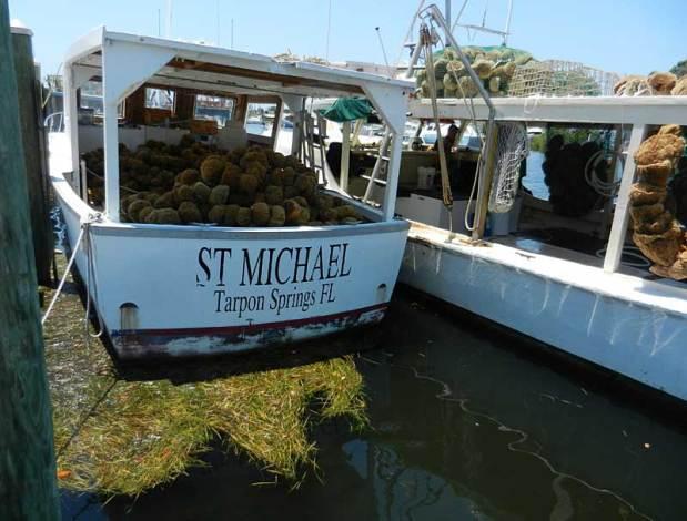 Sponge fishing boat in Tarpon Springs