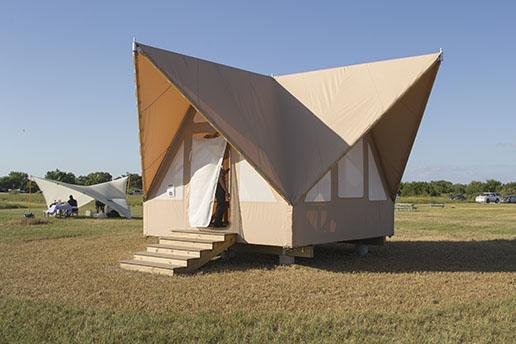 The prototype Flamingo eco-tent
