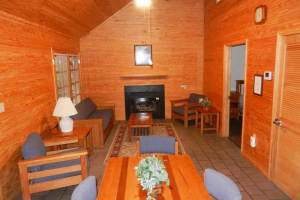 Interior of cabin at Silver River State Park