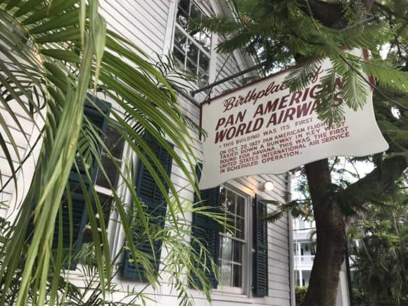 First Flight Island Restaurant and Brewery in Key West is located in the historic offices of Pan Am, which sold its first ticket to Havana from this buildings. (Photo: Bonnie Gross)