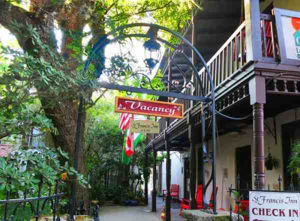 Entrance to St. Francis Inn, a St. Augustine bed and breakfast