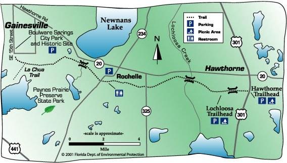 GainesvilleHawthorne One of states best bike trails Florida Rambler
