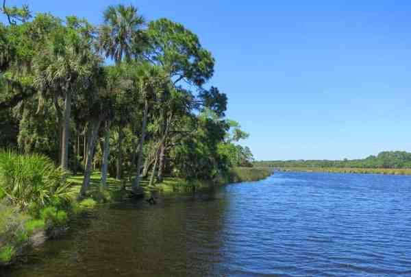 Bulow Creek is a good paddling spot. There's a boat ramp at Bulow Plantation Ruins Historic State Park in Flagler County.