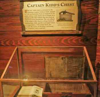 A rare pirate treasure chdest at St. Augustine Pirate and Treasure Museum.