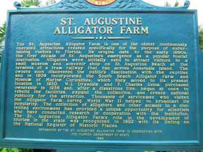 The St. Augustine Alligator Farm dates to 1893.