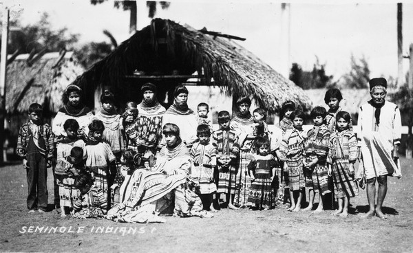 Seminole Indians in 1920. Photo: Florida Memory Project