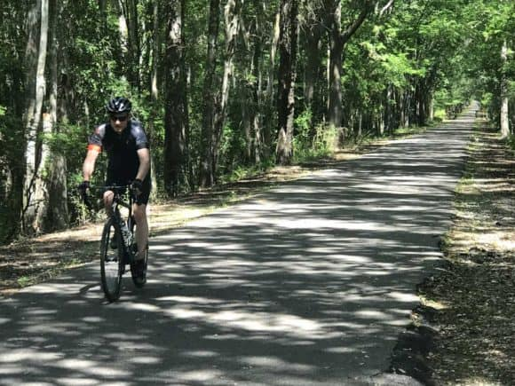 Jacksonville-Baldwin Bike Trail: A shady ride even on hot sunny days. (Photo: Bonnie Gross)