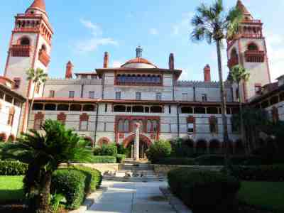 Flagler College, which was originally Henry Flagler's Ponce de Leon Hotel.