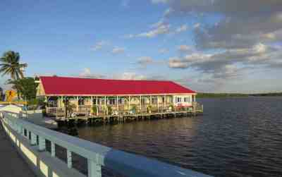 The Bridgewater Inn in Matlacha is built on a dock.