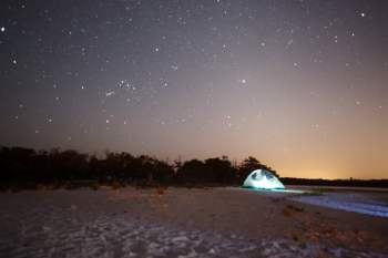 night camping ten thousand islands tiger key