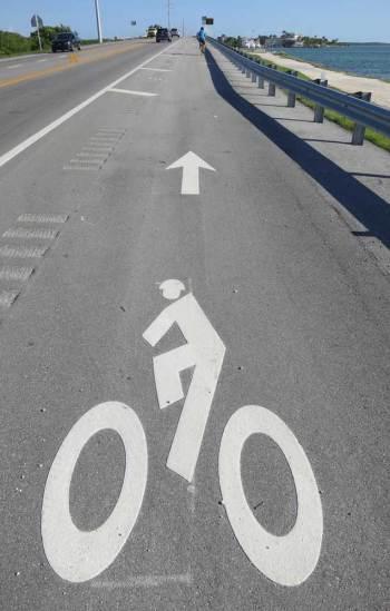 Florida Keys Overseas Heritage Trail pavement signage.