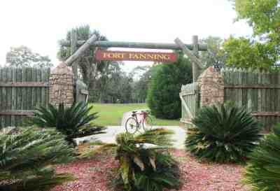 Fort Fanning was an outpost during the Seminole Wars but no trace is left. There's a historical marker and a pretty view of the Suwanee River.