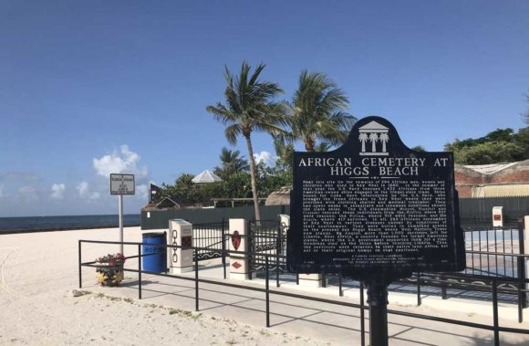 Marker at Higgs Beach in Key West. (Photo: Bonnie Gross)