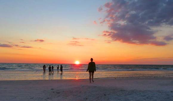 Sunset on Pass A Grille beach.