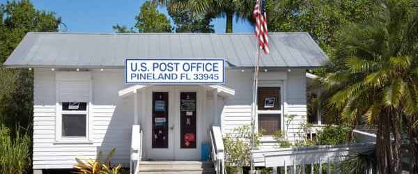A post office on Pine Island (Courtesy of Chief Dennis, Tarpon Lodge)