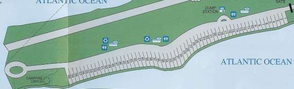 Long Key State Park Campground site map
