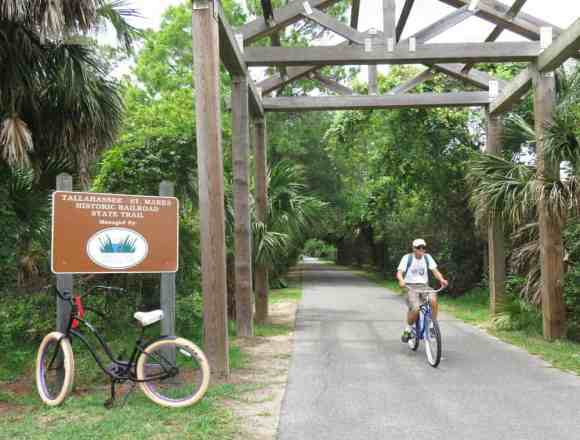 The Tallahassee-St. Marks Historic Railroad State Trail was Florida's first rail-to-trail, (Photo: Bonnie Gross)