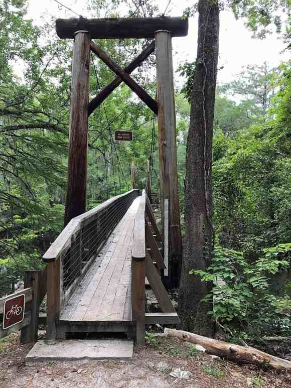 suspension bridge at O'Leno State Park, High Springs