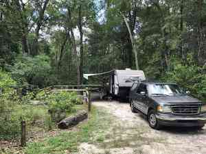 Campsite in the Magnolia Campground at O'Leno State Park, High Springs.