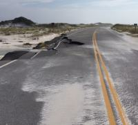 Route 399 through the Santa Rosa area of Gulf Islands National Seashore.